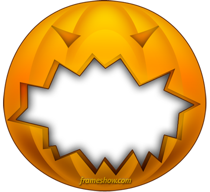 pumkin halloween photo frame