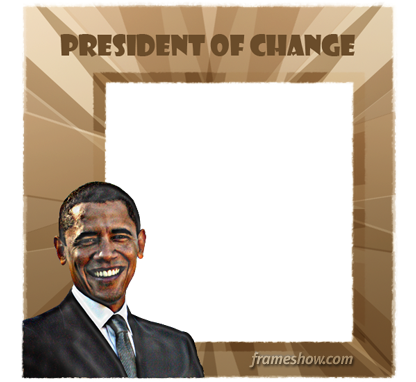 Barack Obama photo frame
