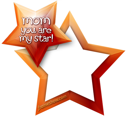 mom star mothers day photo frame