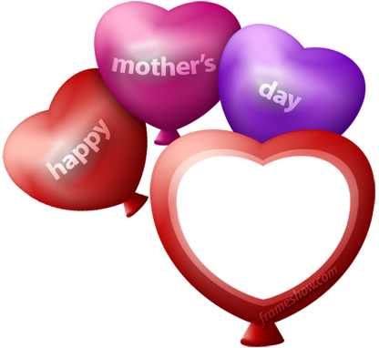 mothers day heart balloons photo frame