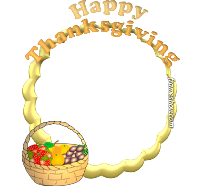 Happy Thanksgiving image frame