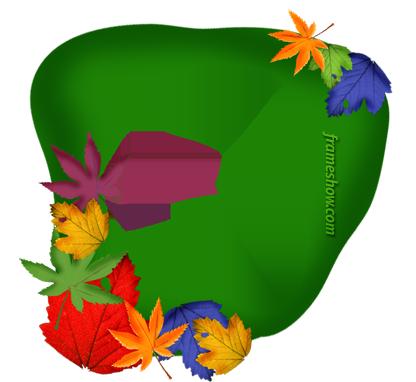 colorful fall photo frame