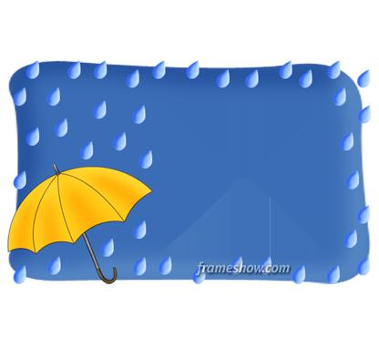 rainy fall image frame