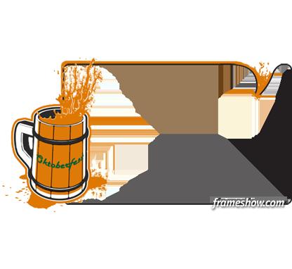 Oktoberfest beer picture frame