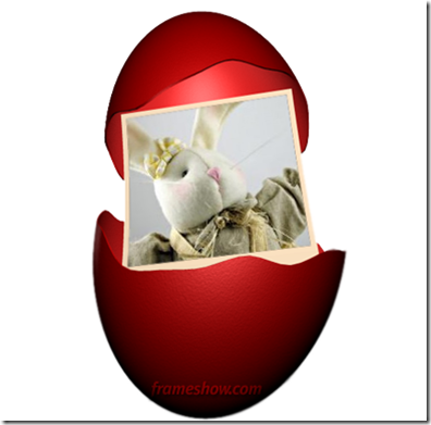 Easter red egg photo ecard