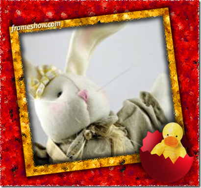 Easter chicken e-card