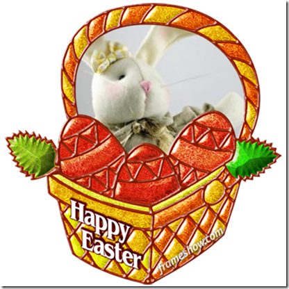 Happy Easter basket e-card