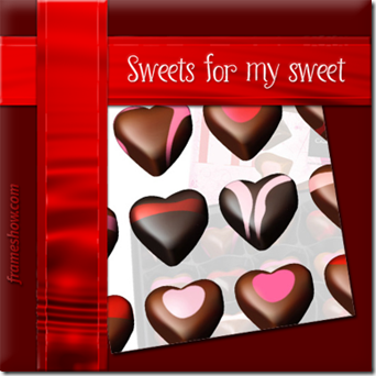 sweet chocolates Happy Valentine's day